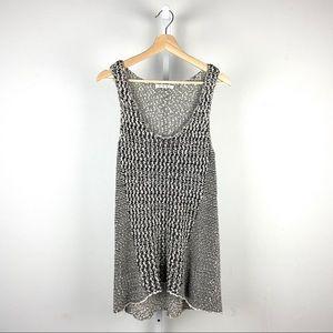 CAbi Yarn Tank Top Cotton Knit Black Beige 488 L